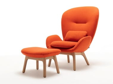 Fabric armchair with armrests ROLF BENZ 594