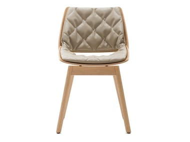 Chair with integrated cushion ROLF BENZ 650 | Wooden chair