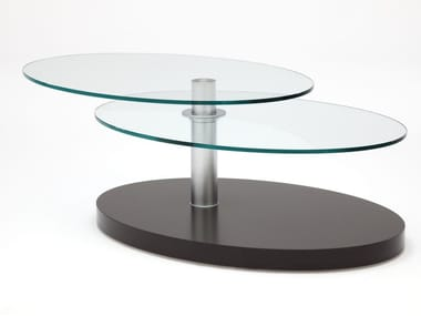 Oval glass side table ROLF BENZ 8100