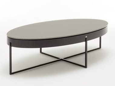 Oval coffee table with storage space ROLF BENZ 8440