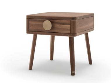 Wooden bedside table with drawers ROLF BENZ 916