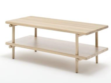Rectangular wooden coffee table ROLF BENZ 933