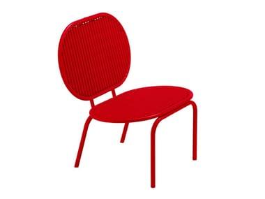Aluminium easy chair ROLL | Easy chair