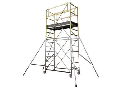 Mobile scaffolding and ladder for construction site ROLLER SCAFFOLD HD-678
