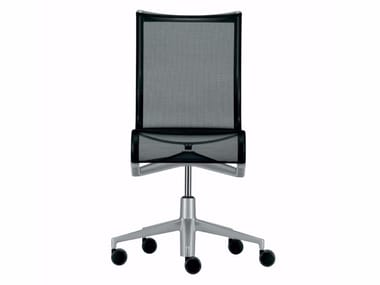 Height-adjustable swivel task chair with casters ROLLINGFRAME - 432