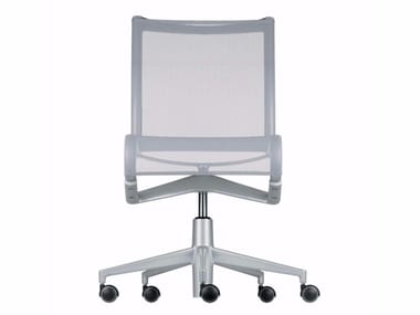 Height-adjustable swivel task chair with casters ROLLINGFRAME+ LOW - 448