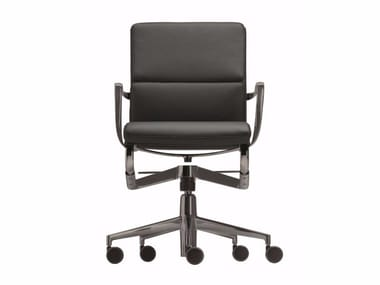 Swivel office chair with 5-Spoke base with castors ROLLINGFRAME+ LOW TILT SOFT 453