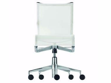 Height-adjustable swivel task chair with casters ROLLINGFRAME+ TILT - 444