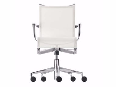 Height-adjustable swivel office chair with armrests ROLLINGFRAME+ TILT - 445