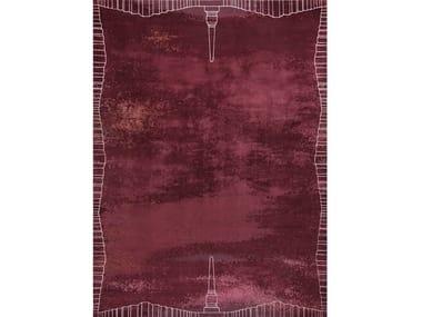 Handmade rectangular rug ROMA AMARANTO
