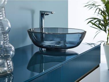 Countertop round single crystal washbasin ROMA