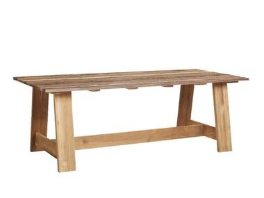 Rectangular teak garden table ROMA