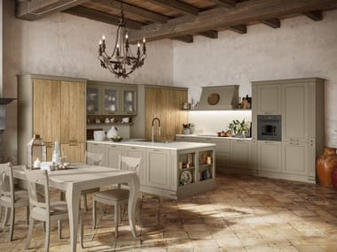 Lacquered kitchen with peninsula ROMANTICA 04