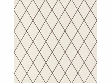 Porcelain stoneware wall/floor tiles ROMBINI LOSANGE WHITE GREY