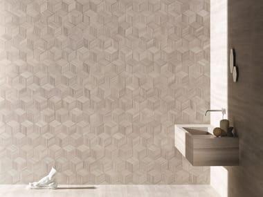 Revestimiento de pared 3D modular de piedra natural ROMBOO