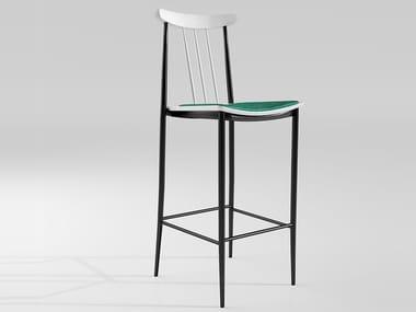 Sgabello alto da bar con cuscino integrato diamond bar stool high