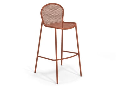High steel garden stool with footrest RONDA XS | Stool