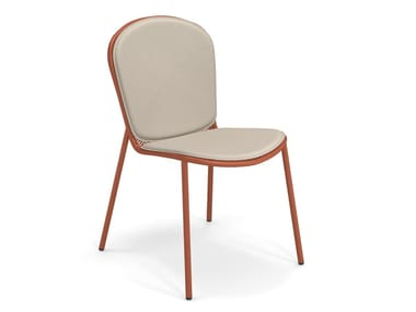 Upholstered fabric and steel garden chair RONDA XS | Upholstered chair