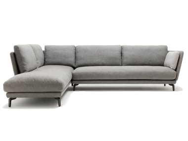 Corner fabric sofa with chaise longue ROLF BENZ 525 RONDO | Sofa with chaise longue