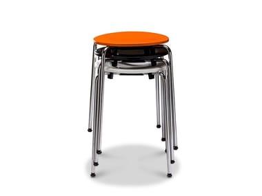 Stackable wood veneer stool RONDO STOOL