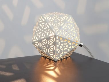 Lampada da tavolo alogena in metallo verniciato RONTONTON | Lampada da tavolo