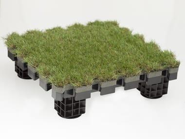 Modulo sopraelevato da esterno con isolamento termico ROOFINGREEN NATURE