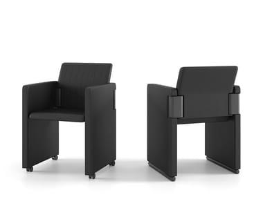 Cadeira de conferência dobrável de pele ROOTA