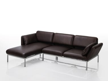 Corner leather sofa with chaise longue RORO | Sofa with chaise longue