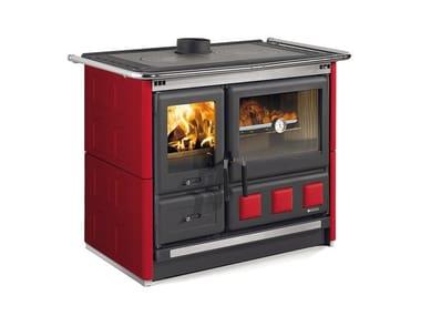 Cucina a legna con rivestimento in maiolica ROSA XXL - MAIOLICA