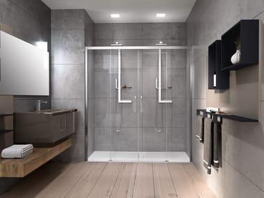 Box doccia a nicchia con porta scorrevole ROSE ROSSE 2A