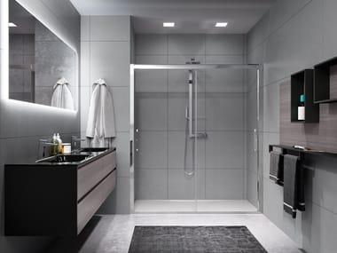 Box doccia a nicchia con porta scorrevole ROSE ROSSE 2M