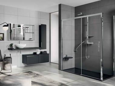 Box doccia angolare con porta scorrevole ROSE ROSSE | 2P + F