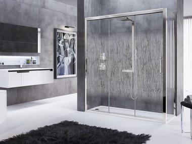 Box doccia angolare con porta scorrevole ROSE ROSSE | 3P + F