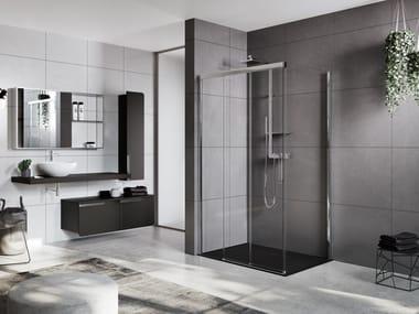 Box doccia angolare con porta scorrevole ROSE ROSSE | 3PH + FH