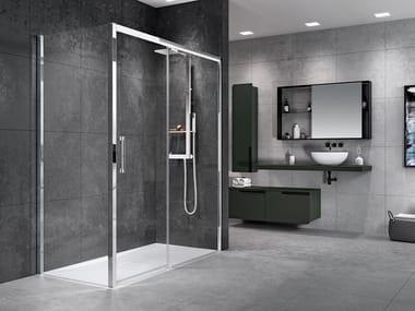 Box doccia angolare con porta scorrevole ROSE ROSSE F