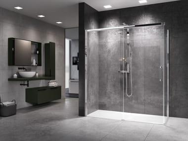 Box doccia con porta scorrevole ROSE ROSSE | PH + FH