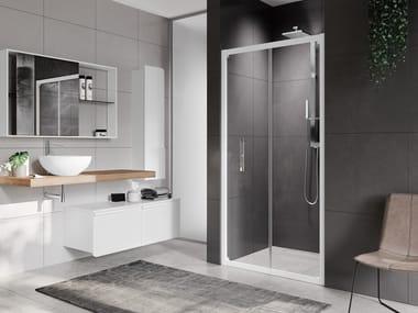 Box doccia angolare con porta a soffietto ROSE ROSSE S
