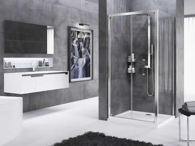 Box doccia angolare con porta a soffietto ROSE ROSSE | S + F