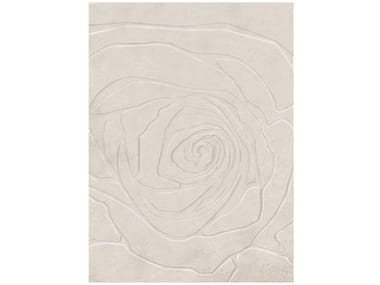 Solid-color rectangular wool rug ROSELYN