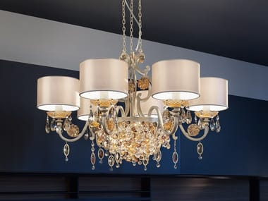 Direct light metal chandelier ROSEMERY 6