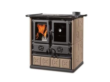 Cucina a legna con rivestimento in maiolica ROSETTA BII - MAIOLICA