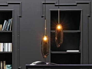 Murano glass pendant lamp ROSY GOLD