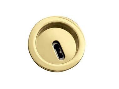 Kit Chiudiscrigno ROTONDA | Maniglia con chiave pieghevole Oro lucido