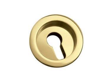 Kit Chiudiscrigno ROTONDA | Maniglia con foro a cilindro europeo Oro lucido