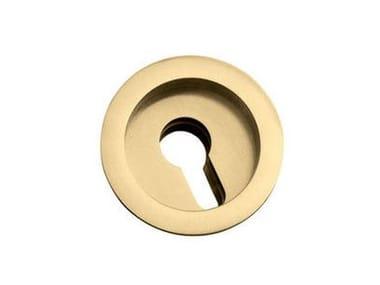 Kit Chiudiscrigno ROTONDA | Maniglia con foro a cilindro europeo Oro satinato