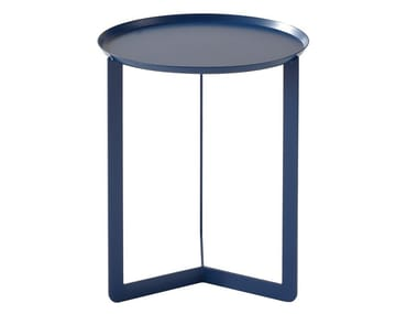 Round metal bistro side table for living room ROUND