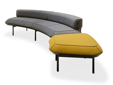 Curved fabric sofa ROUND YOU