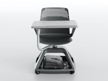 Polypropylene training chair with writing tablet ROVER EVO
