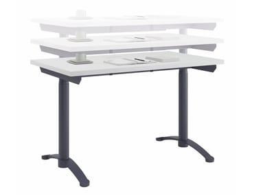 Height-adjustable rectangular laminate workstation desk ROY