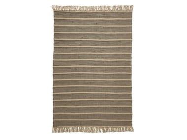 Handmade striped rug RUBBER TUBE